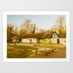 Cafe Box Hill Surrey Art Print