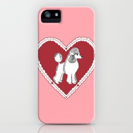 Poodle Love iPhone Case