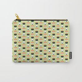 Salmon Dreams in wasabi, small Carry-All Pouch