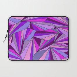 Purple triangle pattern Laptop Sleeve