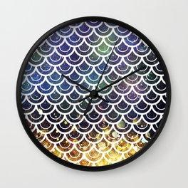 Mermaid Scales Deep Sea Sparkle Wall Clock