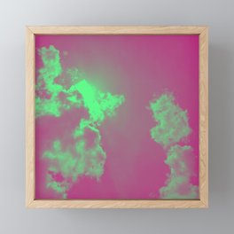 Radiant Clouds Framed Mini Art Print