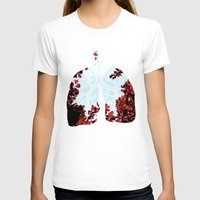lungs T-shirts featuring Lungs by Keka Delso