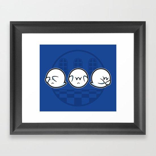 Boo No Evil Framed Art Print