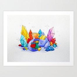 Spyro's Nap Art Print