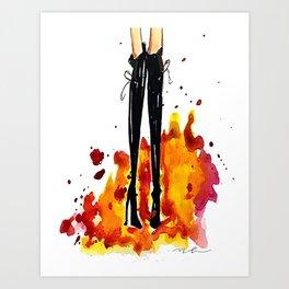 Designer boots Art Print