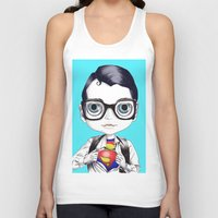 superman Tank Tops featuring superman by Studio de Shan