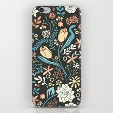 Tulip flowerbed, blue iPhone & iPod Skin