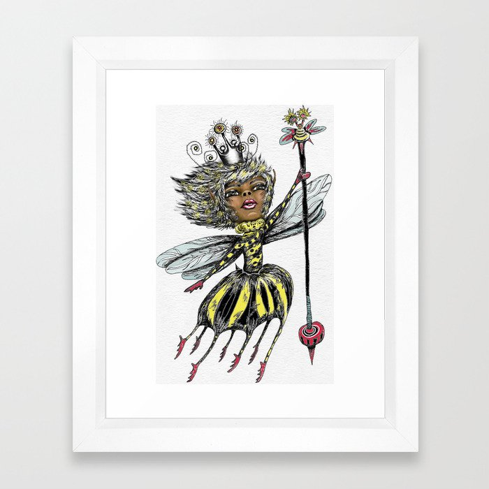 Queen Bee of Color Framed Art Print