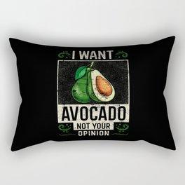 Avocado Saying Funny Rectangular Pillow