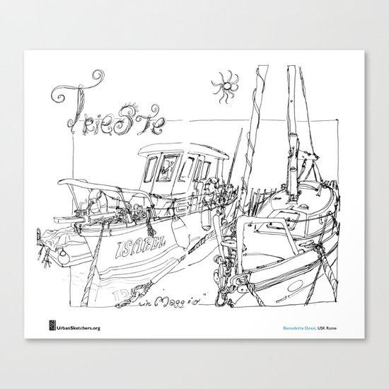 """Benedetta Dossi, """"Trieste"""" Canvas Print"""