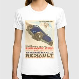 1930 Le Mans French Motor Auto Racing Vintage Poster T-shirt