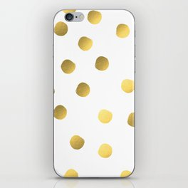 Painted spots of gold iPhone Skin