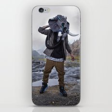 Sneakerhead Elephant Gas Mask by Freehand Profit iPhone & iPod Skin