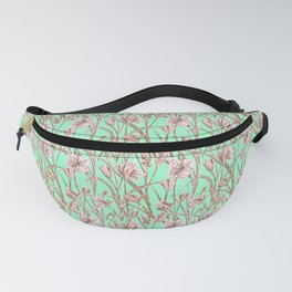 Classic blue and pink pastel flower pattern Fanny Pack