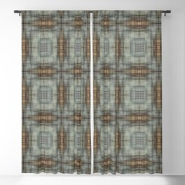 Modern Abstract Plaid Blackout Curtain