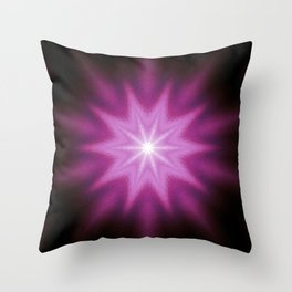 Starburst Purple Pink Burgundy Throw Pillow
