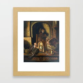The Harpies (illustration from my painting manual Fantastic Realism) Framed Art Print