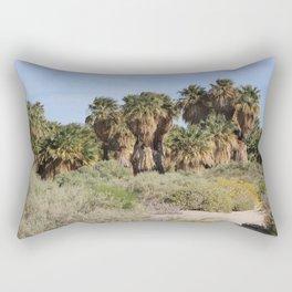 Path Through San Andreas Fault Desert Oasis 2 Coachella Preserve Rectangular Pillow