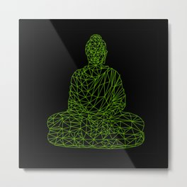 Triangular Traced Buddha Metal Print