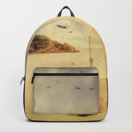 The path that hugs the beach Backpack