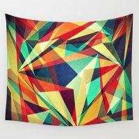 broken Wall Tapestries featuring Broken Rainbow by VessDSign