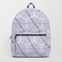 Pretty Lilac Purple Check and Honeycomb Backpack