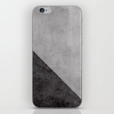 Concrete with black triangle iPhone Skin