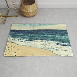 The beach and the sea at Cannes French Riveria Rug