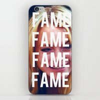 lindsay lohan iPhone & iPod Skins featuring FAME - LINDSAY LOHAN by Beauty Killer Art
