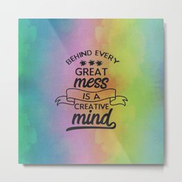 Creative Mind Metal Print