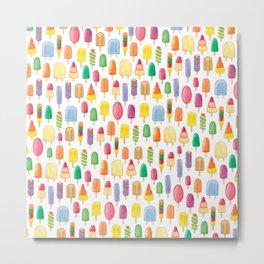 Ice Lolly, Popsicle, Ice Cream, Print.  Metal Print