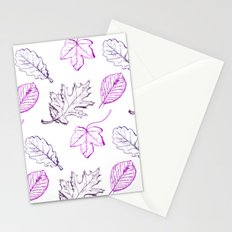 Leaves (purple) Stationery Cards