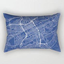 Birmingham Map, USA - Blue Rectangular Pillow
