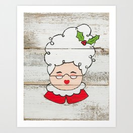 Mrs. Claus Art Print