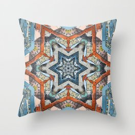 Abstract Geometric Structures Throw Pillow