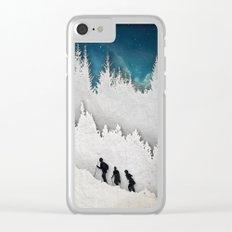 A Snowy Hike II Clear iPhone Case