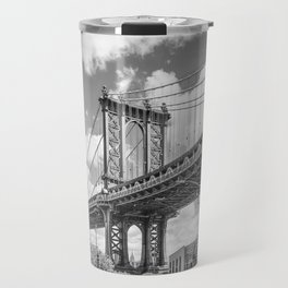 NEW YORK CITY Manhattan Bridge | Monochrome Travel Mug