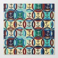 anchors Canvas Prints featuring anchors by Sharon Turner