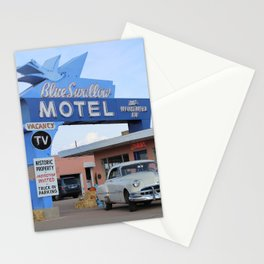 Route 66 - Blue Swallow Motel Stationery Cards