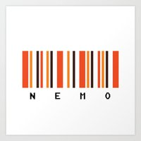 nemo Art Prints featuring Nemo by Vector Vectoria