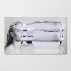 Glitch Face Melt Canvas Print