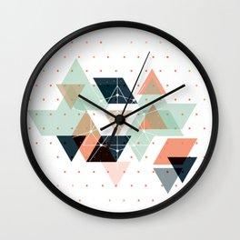 Midcentury geometric abstract nr 011 Wall Clock