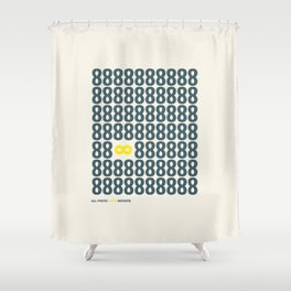 All finite - You infinite Shower Curtain