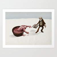 evolution Art Prints featuring Evolution by Lee Grace Design and Illustration