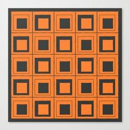 Orange Squares Canvas Print