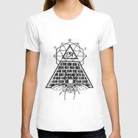 pyramid T-shirts featuring Pyramid by alesaenzart