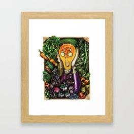 The Green Scream Framed Art Print