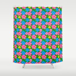 Tropical Hibiscus Hawaiian Pattern Shower Curtain