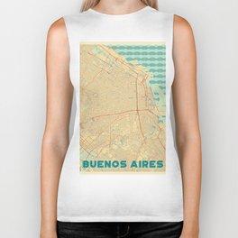 Buenos Aires Map Retro Biker Tank